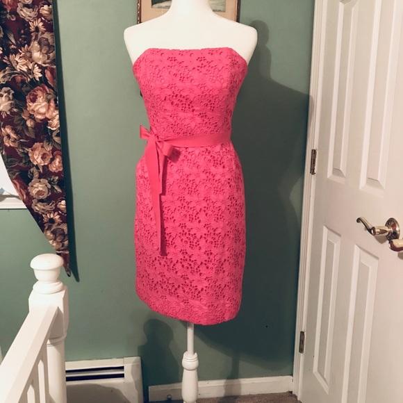 LILLY PULITZER Sienna Eyelet Strapless Dress sz 6